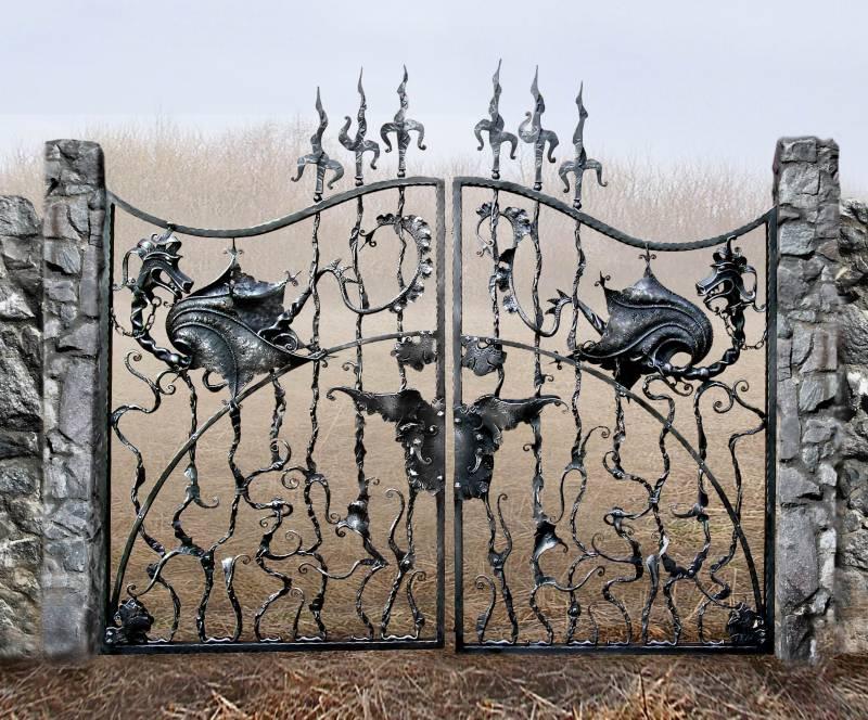 Ворота из металла художественной ковки