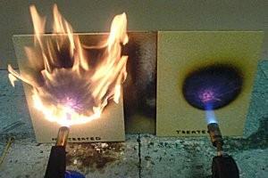 Испытание покрытия огнем