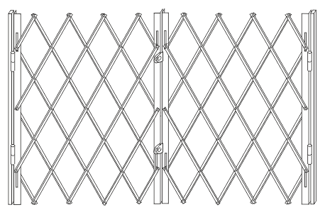Раздвижная решетка для окна