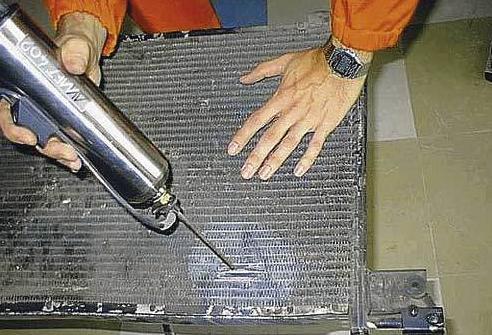 Ремонт радиатора авто ВАЗ 2112