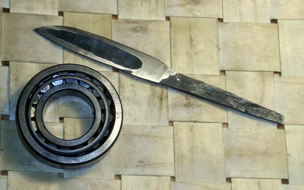 нож из подшипника фото